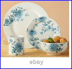 Spode Vintage Blue Florals Dinnerware 16-piece Dish Set for 4 NEW FREESHIP