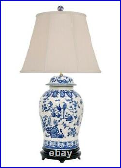 Table Lamp Porcelain Blue White Temple Jar Lamp 35 High 18 Wide Hand Painted