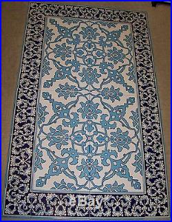 Turkish Blue & White 40x24 (100cmx60cm) Iznik Pattern Ceramic Tile Panel Mural