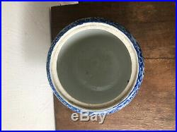 Vintage Chinese Porcelain Blue & White Jardiniere Fish Bowl Pot Planter