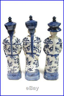 Vintage Style Blue and White Porcelain Chinese Qing 3 Generations Emperor 11