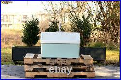 Vintage Style Slant Back Utility Sink Porcelain Kohler Hollister Green Blue
