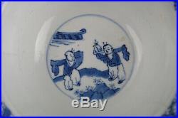Wonderful Antique Chinese Porcelain Blue & White Klapmuts bowl, Kangxi 1662-1722