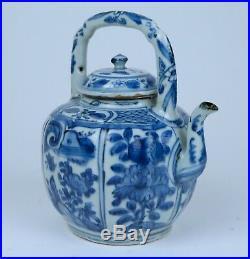 Wonderfull Chinese Blue & White Kraak Porcelain Teapot Wanli Jingdezhen c 1600